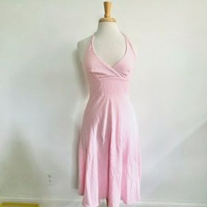 Pink & White Seersucker Dress
